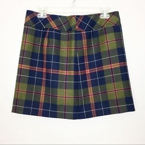 J. Crew Factory Tartan Plaid Wool Mini Skirt 6